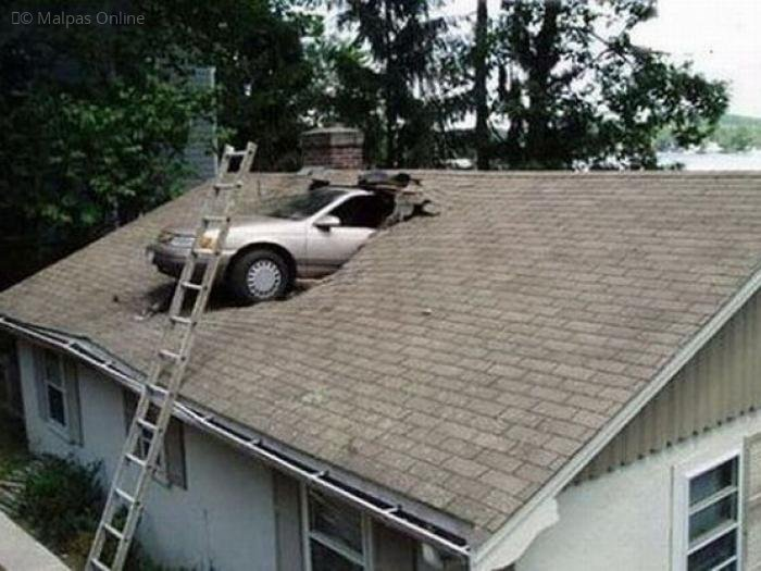 Car in roof