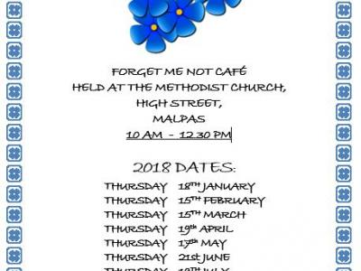 Forget me not cafe dates 2018