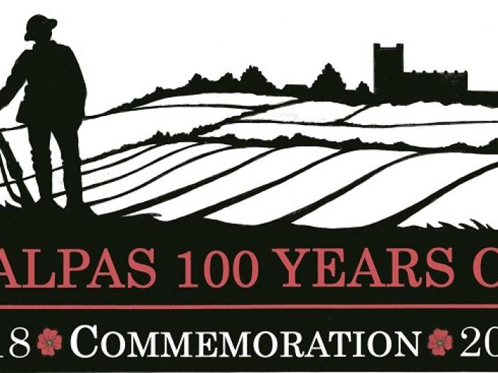 Malpas 100 years on logo 20