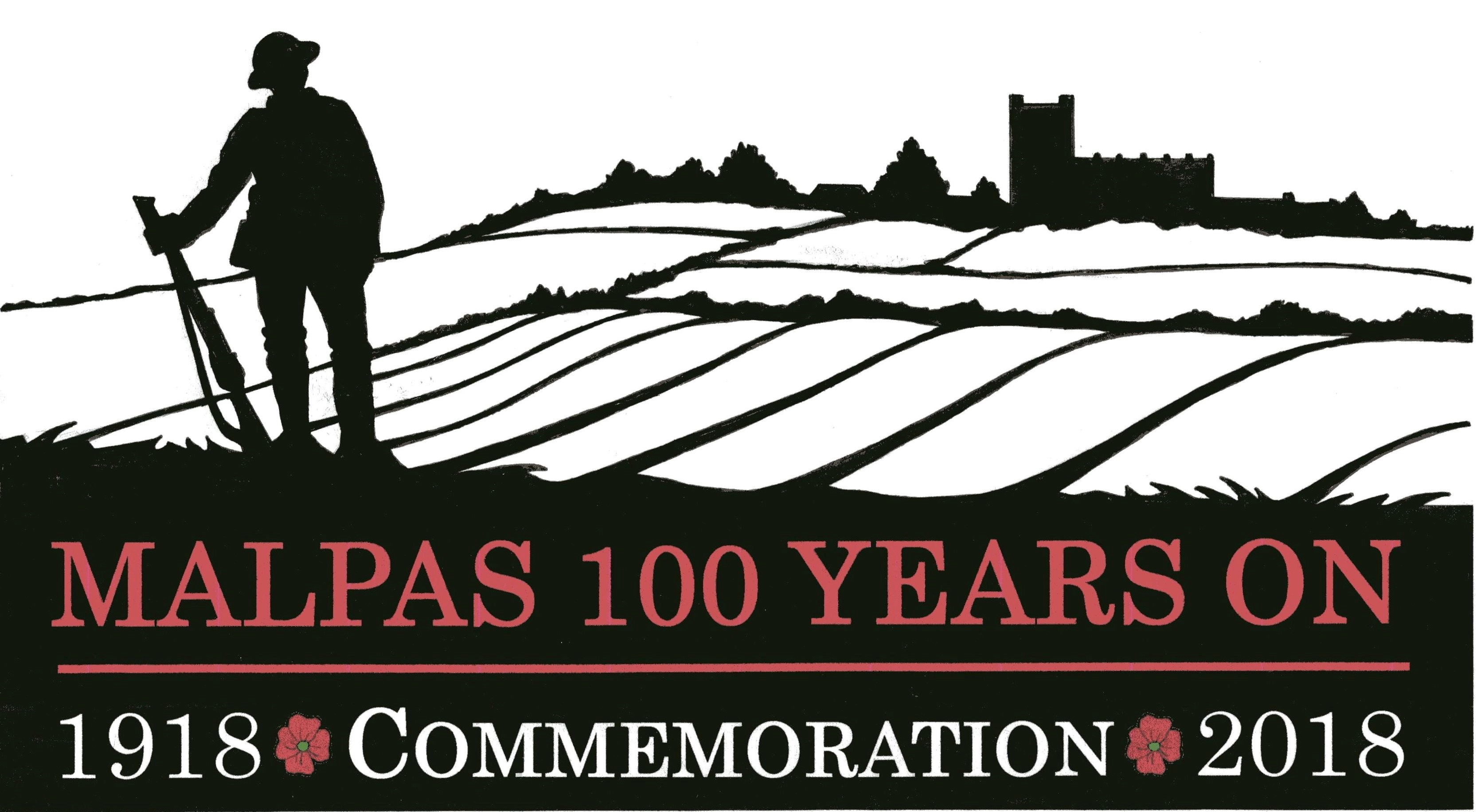 Malpas 100 years on logo