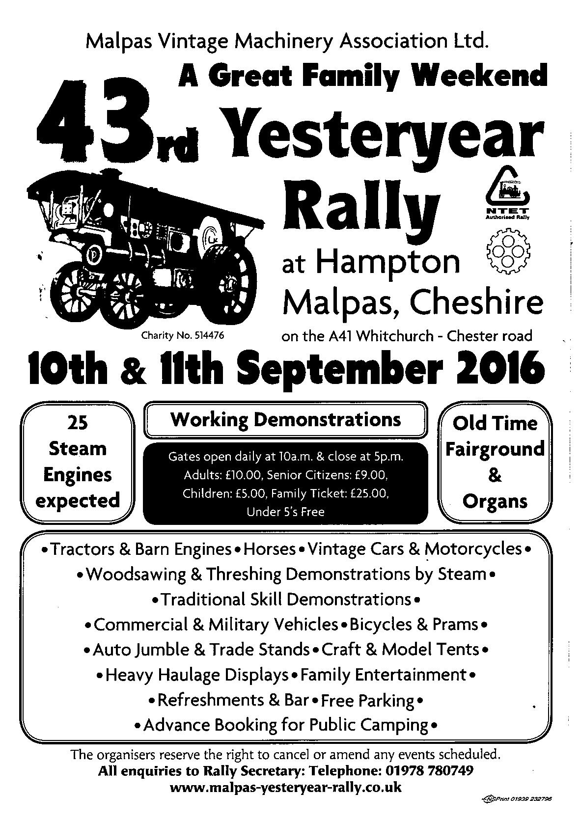 Malpas Yesteryear advert 2016