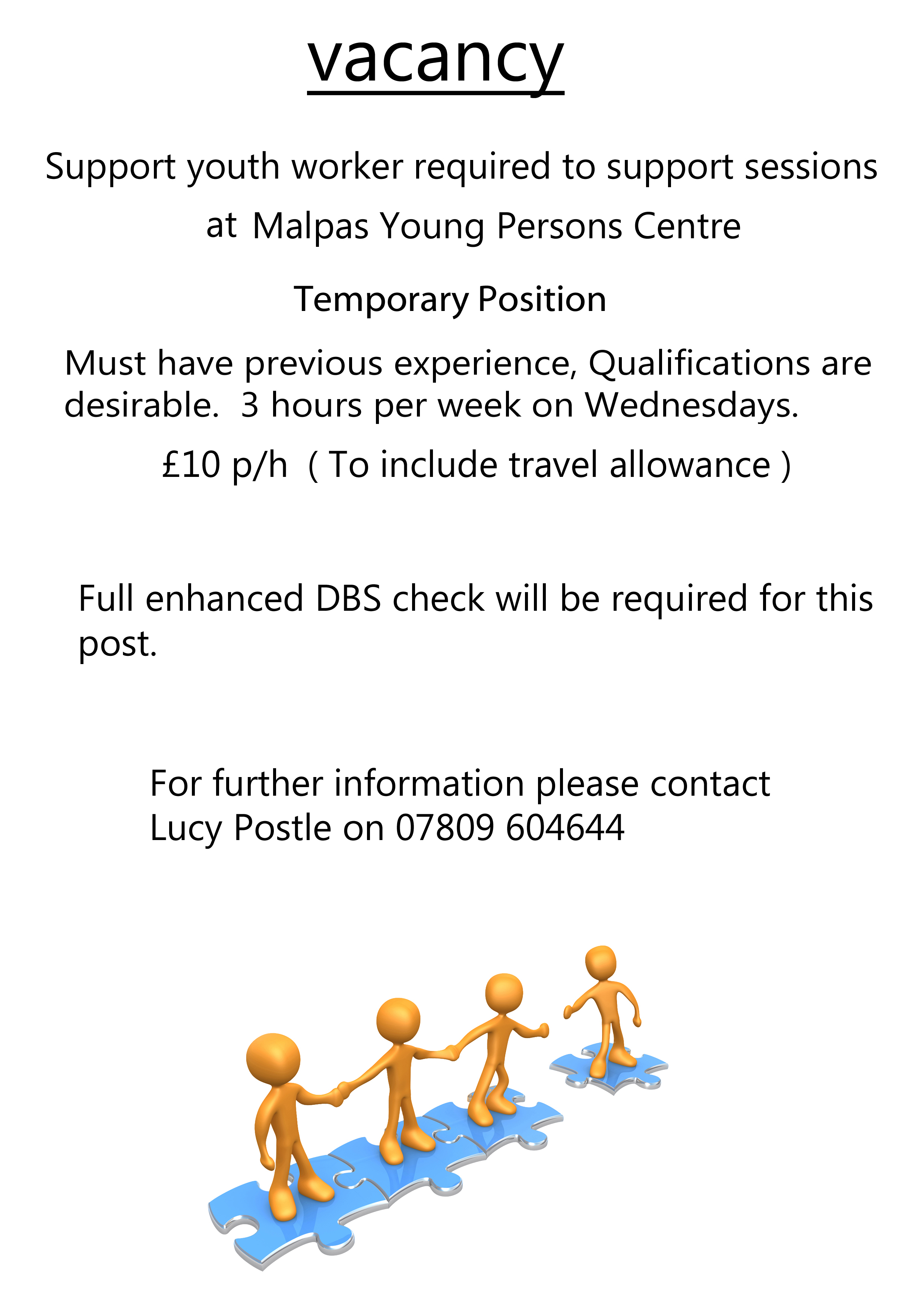 youth work vacancy